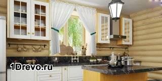 Кухня в срубовом доме