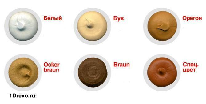 Основные цвета герметика