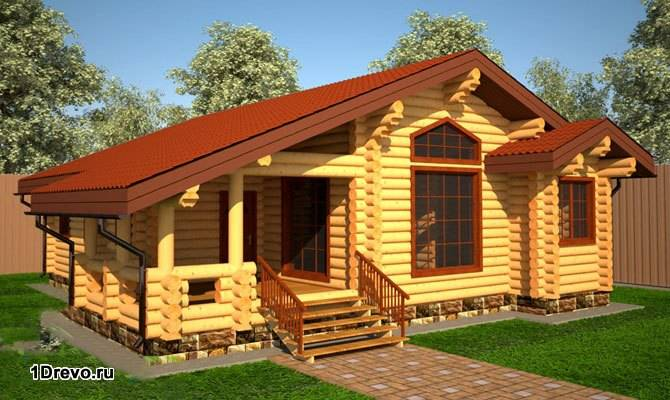 Скандинавский дом из сруба