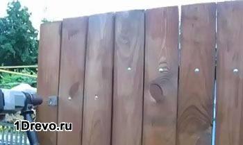 Забор готов
