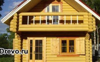 Вариант строительства дачного домика из сруба