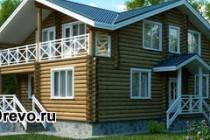 Сруб для двухэтажного дома: какой размер выбрать