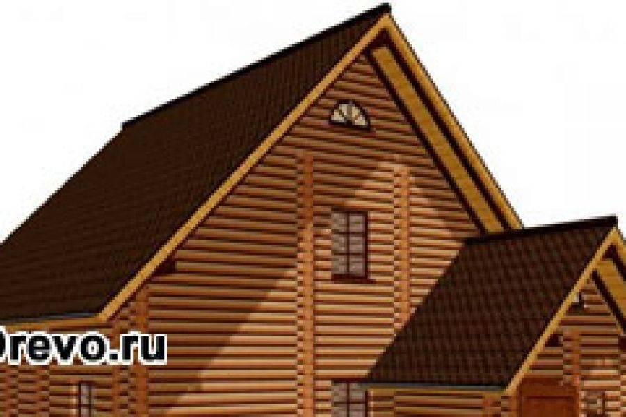 Крыша на срубе из бруса