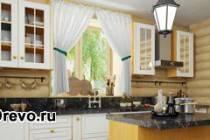 Расположение кухни в срубовом доме - внутри или рядом в пристрое