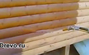 Варианты декоративной и защитной обработки сруба после шлифовки