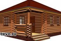 Как построить красивый одноэтажный дом из сруба