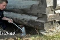 Технология поднятия сруба домкратом