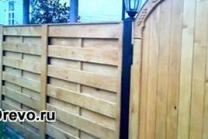 Деревянный забор своими руками качественно и быстро