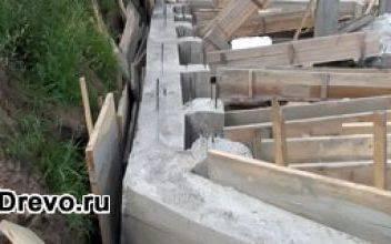 Как построить фундамент под 2-х этажный дом из бруса