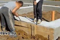 Надёжность ленточного фундамента под сруб