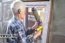 Как можно вставить пластиковое окно в доме из дерева?