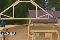 Варианты строительства домов и бань из клеёного бруса