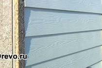 Вариант облицовки фундамента для деревянного дома