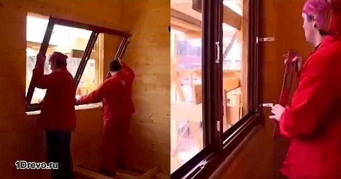 Установка окна в проем