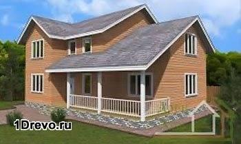 Двухэтажный дом 9x12