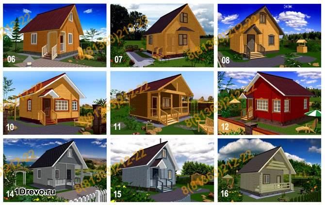 Варианты брусовых домов