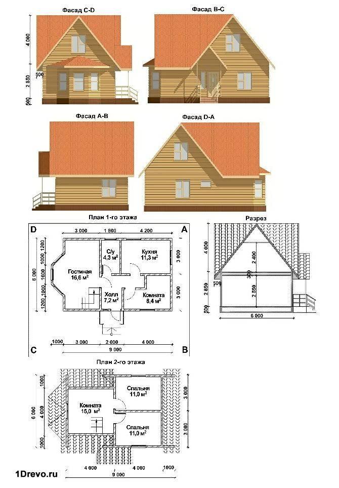 План дома 6x9