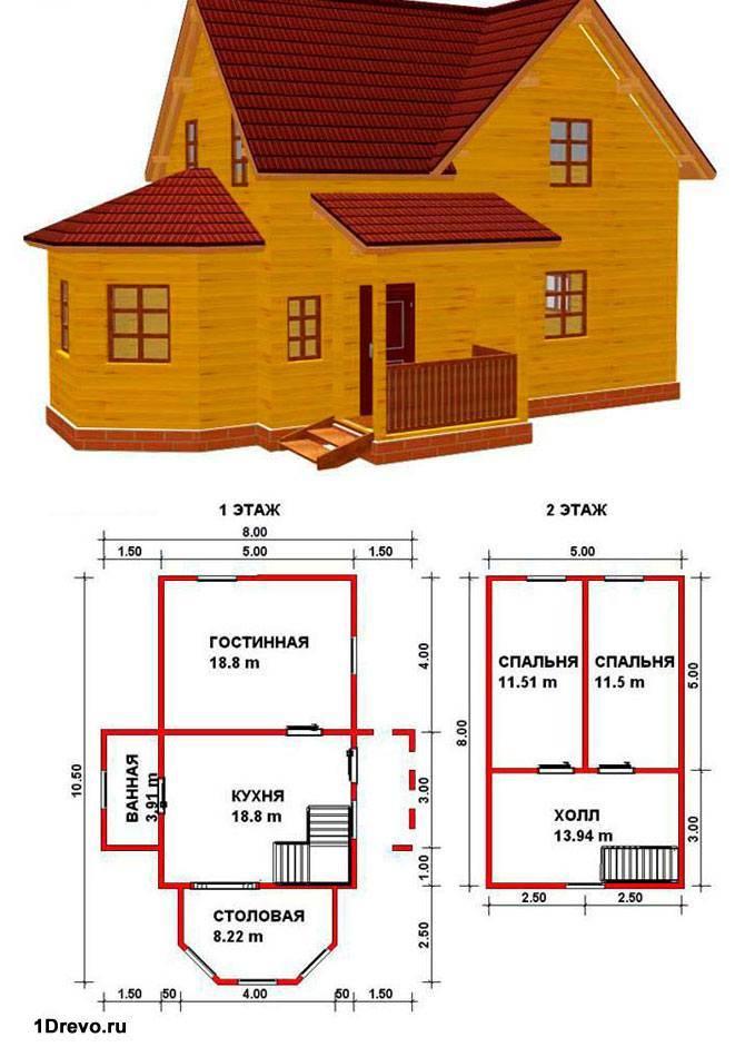 Двухэтажный план