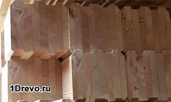 Клееный кедровый брус
