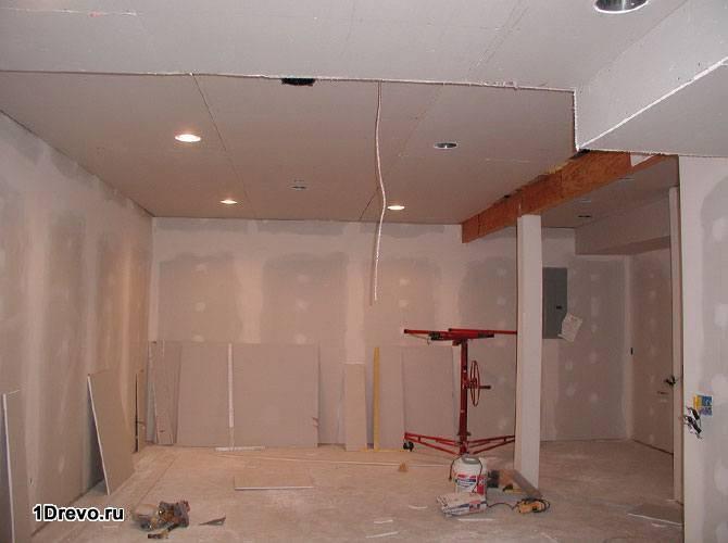 Монтаж на стены и потолок