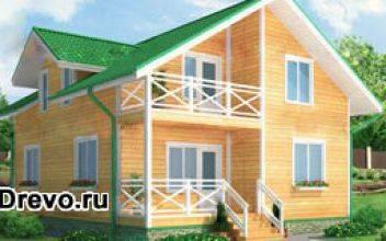 Планировка и строительство брусового дома 8х10
