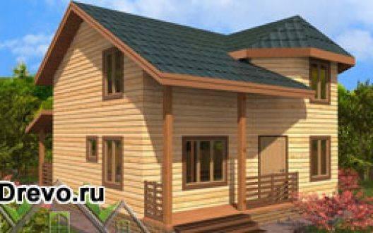Индивидуальный дом 7х8 из профилированного бруса