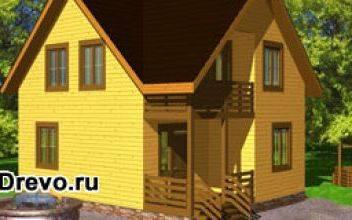 Типовой дом из профилированного бруса 7х9