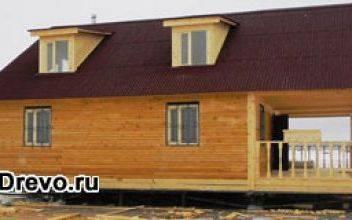 Большие дома из бруса 9х12 метров в один или два этажа