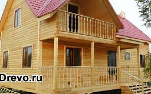 Жилые дома из профилированного или клеёного бруса