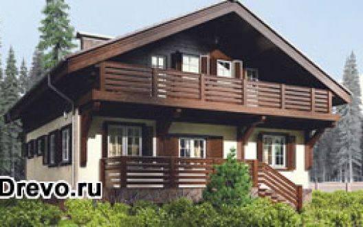 Строительство домов из клеёного бруса типа шале