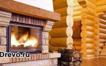 Отличия интерьера дома из деревянного сруба