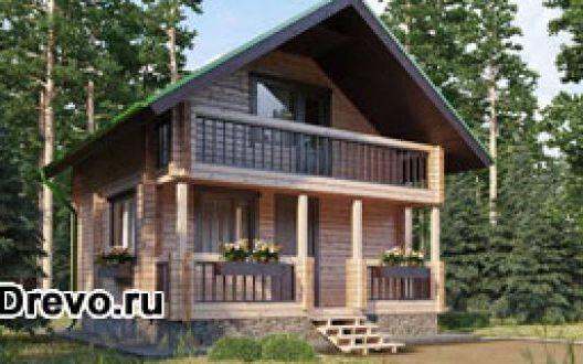Небольшие дома из профилированного или клеёного бруса