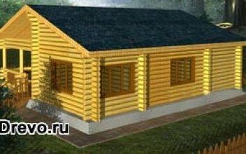 Одноэтажный сруб для строительства своего дома