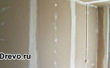 Особенности внутренней отделки гипсокартоном дома из бруса