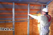 Монтаж внутренних перегородок в брусовом доме