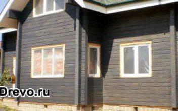 Покраска брусового дома снаружи своими руками