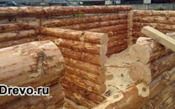 Ручная рубка пятистенка - сруб 6х9 с пятой стеной посередине