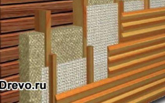 Какая используется схема утепления стен брусового дома