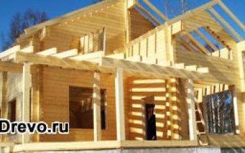 Производство и строительство домов из клеёного бруса