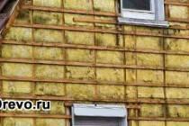 Утепление наружных стен сруба минватой - как сохранить тепло