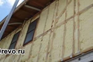 Выбор лучшего утеплителя для брусового дома - обзор