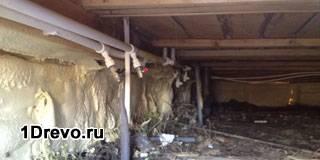 Цоколь деревянного дома