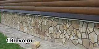 Декоративная отделка фундамента деревянного дома