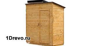Деревянный душ для дачи с подогревом
