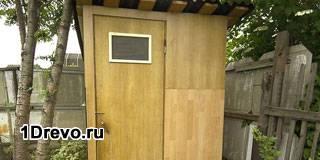 Изготовление дачных деревянных туалетов