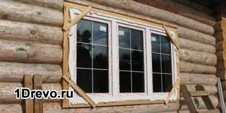 Как установить стеклопакет в деревянном доме