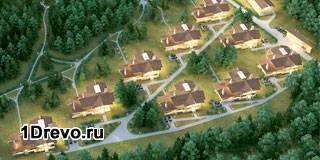 Коттеджный поселок с деревянными домами