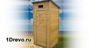Построить деревянный туалет на даче