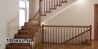 Установка деревянной межэтажной лестницы