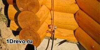 Устройство молниезащиты в деревянном доме